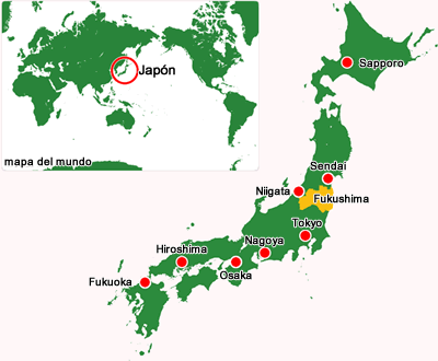 Image : Position of Fukushima Prefecture