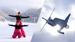 [Winter in Fukushima] Dance vs. Mogul!? Dancing at the ski slopes [Princess]